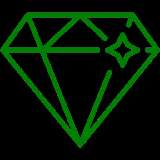 Green Diamond Icon