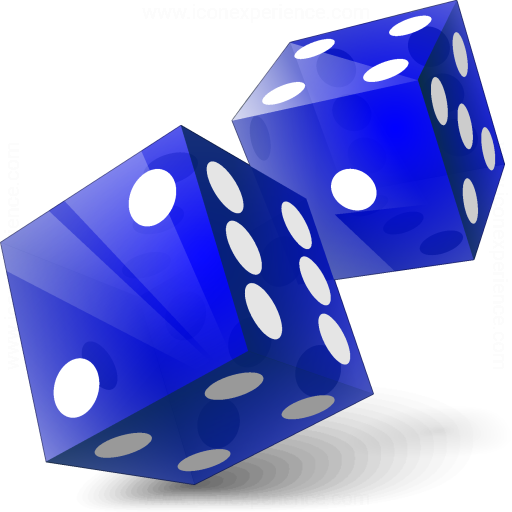 Iconexperience V Collection Dice Blue Icon