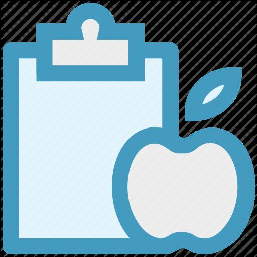 Apple, Checklist, Clipboard, Diet Chart, Diet Plan, Fitness