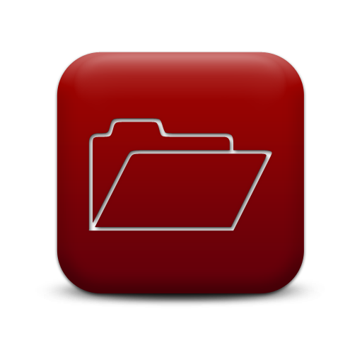 Simple Red Square Icon Business Folder
