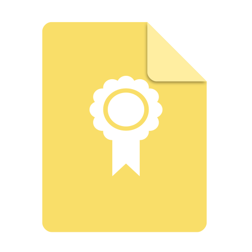 Application, Certificate Icon Free Of Super Flat Remix Mimetypes