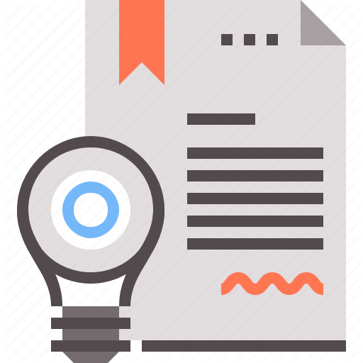 Certificate, Digital, Invention, Solution Icon