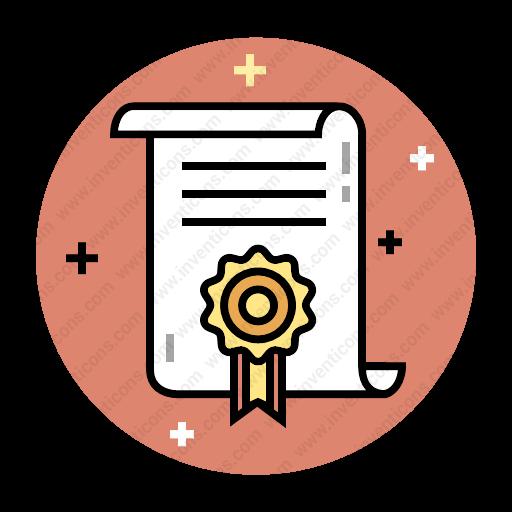 Download Diploma,certificate,degree Icon Inventicons