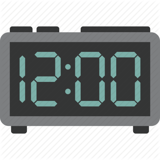 Alarm, Alarm Clock, Clock, Digital Icon