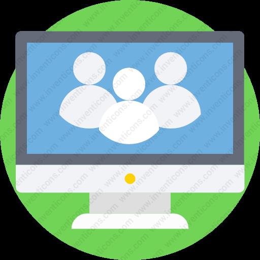 Download Computer,monitor,screen,video,multimedia Icon Inventicons