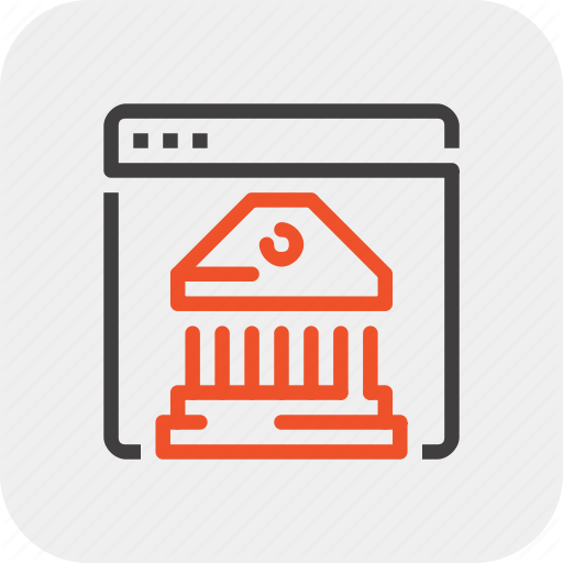 Bank, Banking, Digital, Finance, Internet, Online, Wire Icon