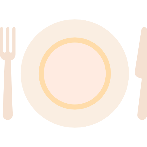 Cutlery, Restaurant, Dish, Knife, Fork, Tools And Utensils, Plate Icon