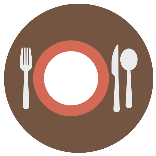 Dish, Spoon, Cutlery, Plate, Restaurant, Food, Knife, Fork Icon