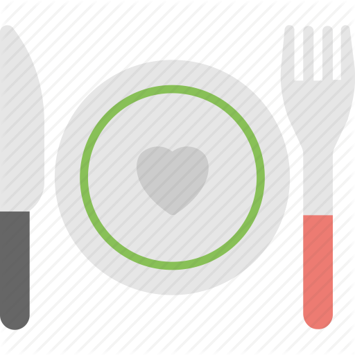 Food Love Symbol, Heart Dinner, Plate With Heart, Romantic Dinner