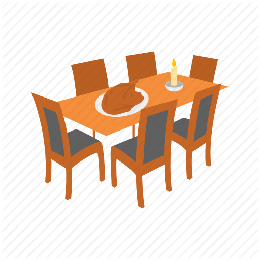 Dinner Table, Table, Thanksgiving, Turkey Icon