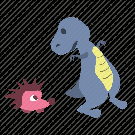 Cute, Dino, Dinosaur, Hedgehog, Surprised Icon