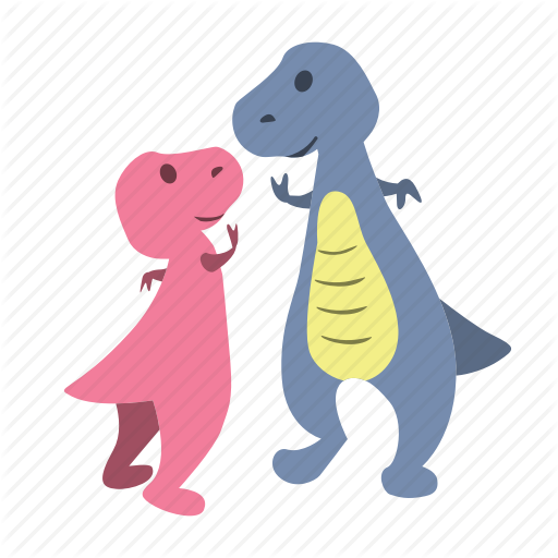 Cute, Dino, Dinosaurs, Five, High, High Five Icon