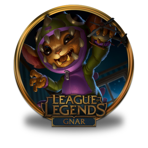 Gnar Dino Icon League Of Legends Gold Border Iconset