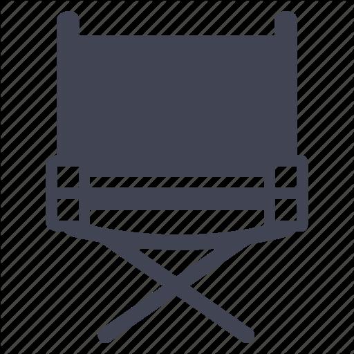 Chair, Director, Furniture, Media, Multimedia Icon