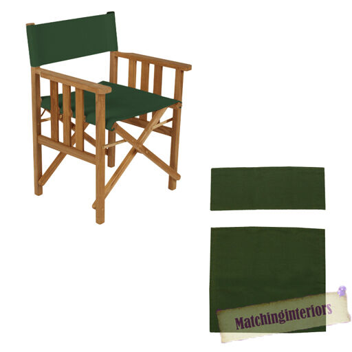 Green Director Chairs Replacement Polyurethane Coated Canvas