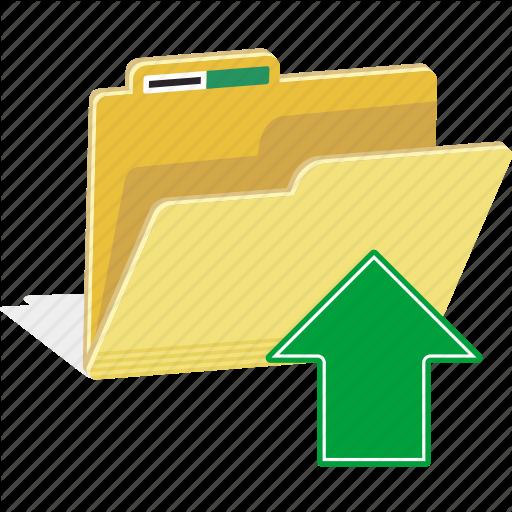 Directory, Documents, File, Folder, Storage, Upload Icon