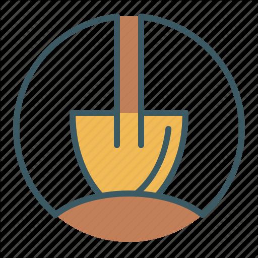 Circle, Construction, Dig, Dirt, Gardening, Shovel Icon