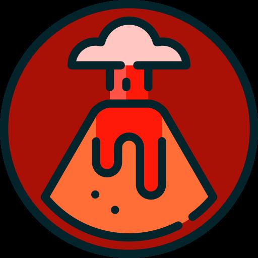 Natural, Volcano, Erupting, Eruption, Nature, Danger, Disaster Icon