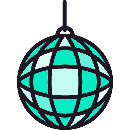 Mirror Ball, Disco, Disco Ball, Dance, Party, Club Icon