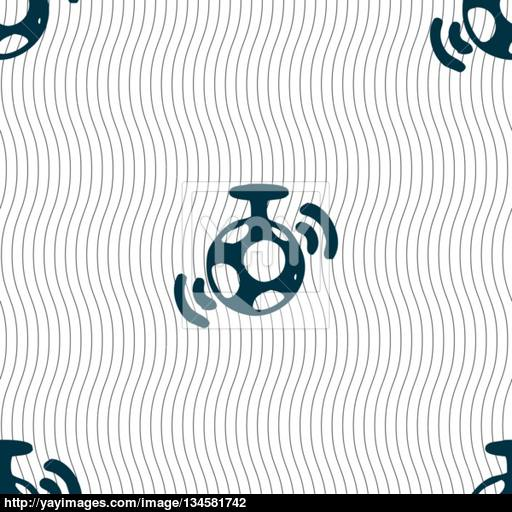Mirror Ball Disco Icon Sign Seamless Pattern With Geometric