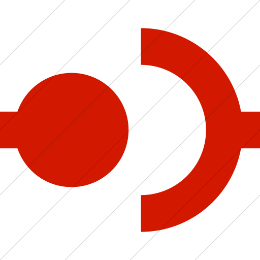 Simple Red Raphael Disconnect Icon
