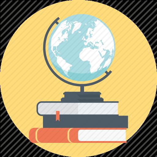 Book, Books, Discover, Earth, Education, Globe, Learn Icon