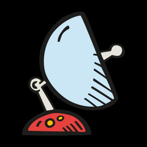 Space Satellite Dish Icon Free Space Iconset Good Stuff No