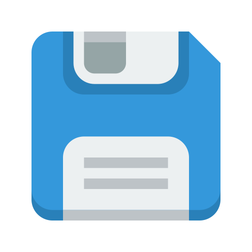Blue Save Disk Icon