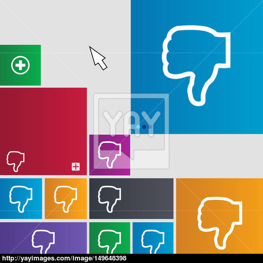 Dislike Icon Sign Buttons Modern Interface Website Buttons