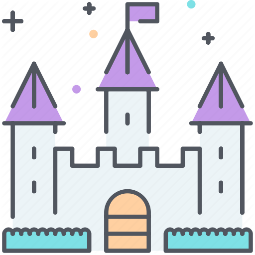 Castle, Disney, Fairytale, Fantasy, Fortress, Magic, Medieval Icon