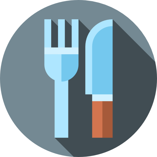 Restaurant Fork And Knife Map Icon Disney