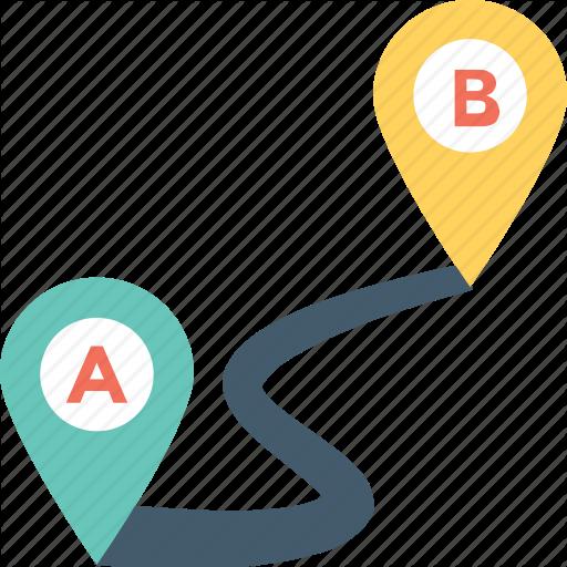 Distance, Gps, Location, Location Finder, Travel Distance Icon