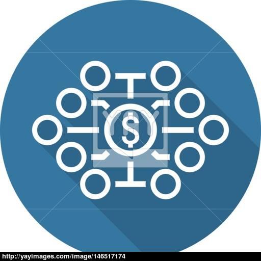Investing Diversification Icon Flat Design Vector