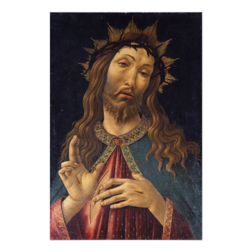 Christ Crowned With Thorns Botticelli Poster Botticelli