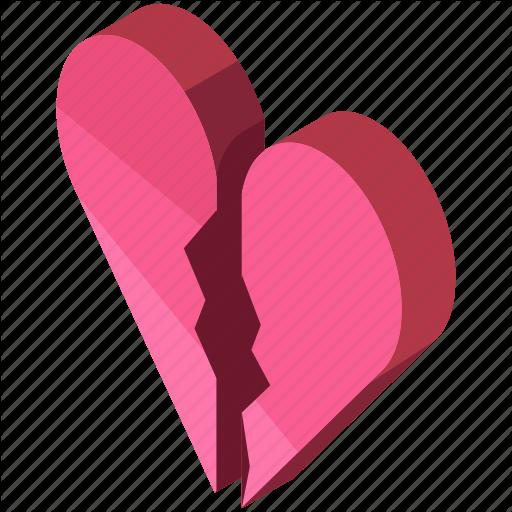 Break Up, Broken, Divorce, Heart, Love, Valentine Icon