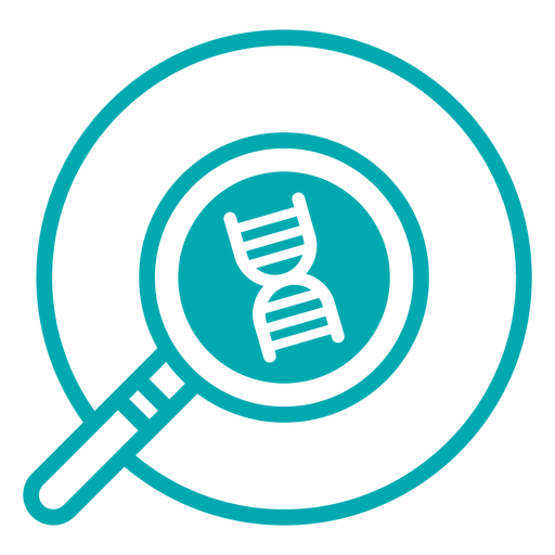 Dna Research Stroke Icon