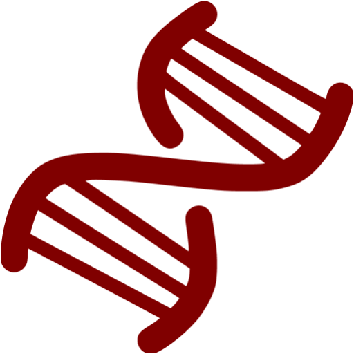 Maroon Dna Helix Icon