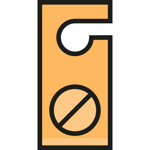 Holidays Door Hanger Flat Icon