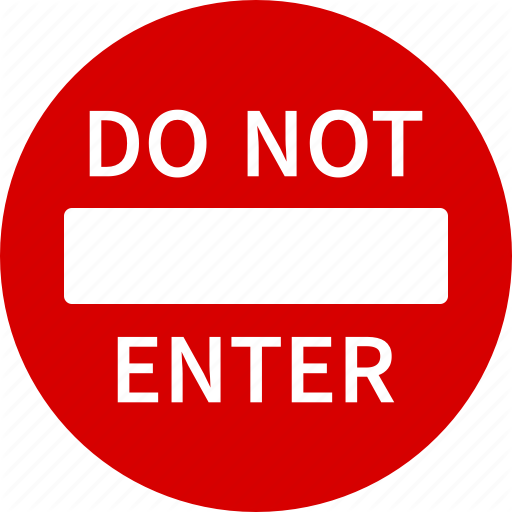 Do, Enter, Entry, No, Not, Sign, Traffic Icon