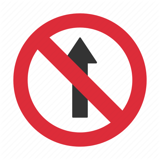 Do Not Enter, No Straight, Prohibit, Straight Prohibit, Traffic