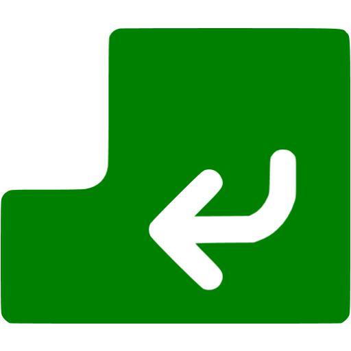 Green Enter Icon