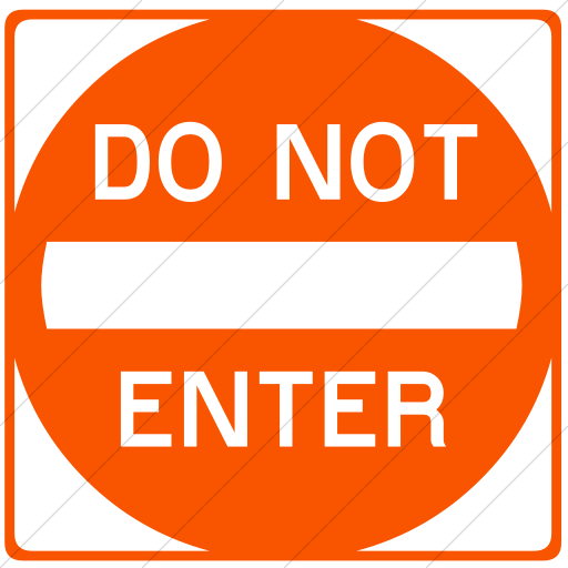 Simple Orange Classica Do Not Enter Icon