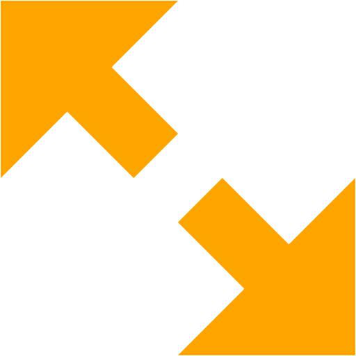 Orange Fullscreen Enter Icon