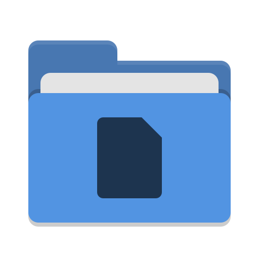 Folder Blue Documents Icon Papirus Places Iconset Papirus