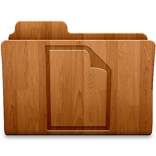 Matte Document Icon Wood Folders Iconset Thvg