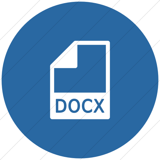 Flat Circle White On Blue Mime Types Document Docx Icon