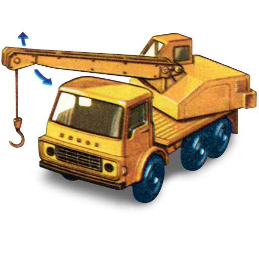 With, Truck, Crane, Dodge, Movement Icon