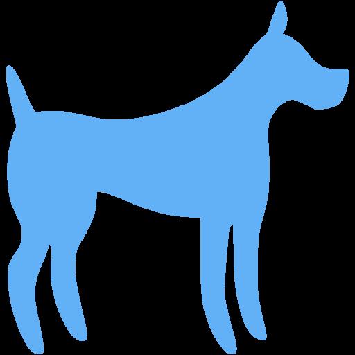 Tropical Blue Dog Icon
