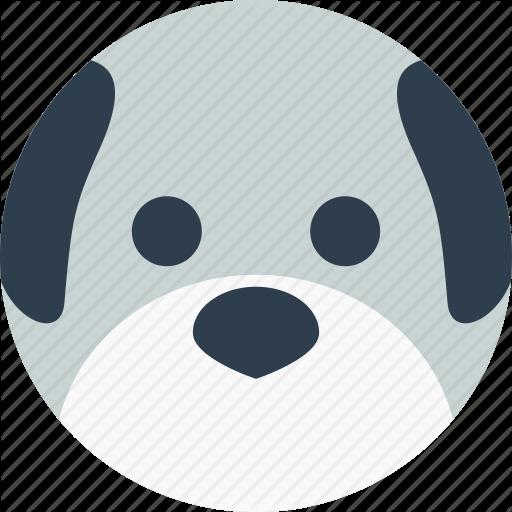 Animal, Avatar, Cartoon, Dog, Face, Pet, Smile Icon