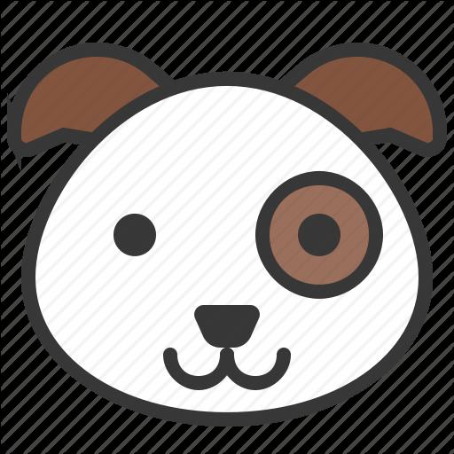 Animal, Cute, Dog, Face, Head, Pet Icon